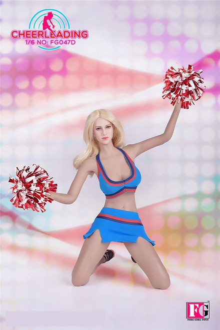 [FG-047D] Fire Girl Toys Cheerleader Uniform in Blue Female Figure Accessory