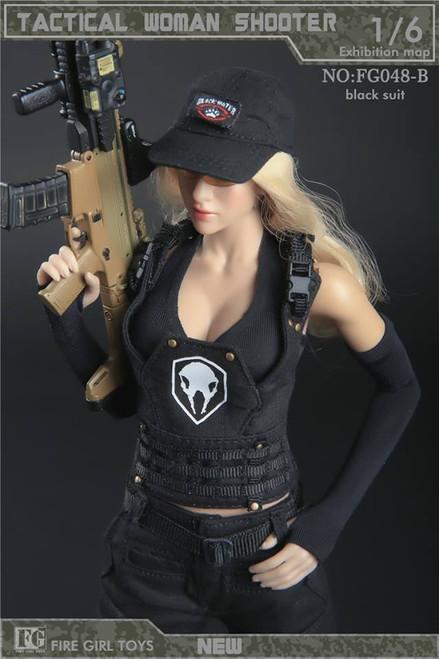 [FG-048B] Fire Girl Toys Tactical Female Shooter Uniform in Black