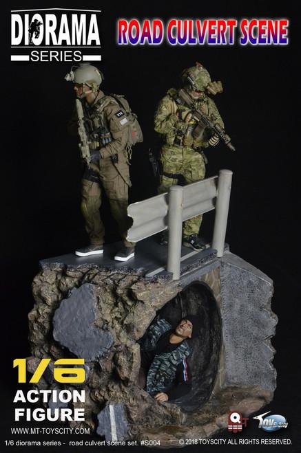[TC-S004] Toys City Road Culvert Scene 1/6 Action Figure Diorama