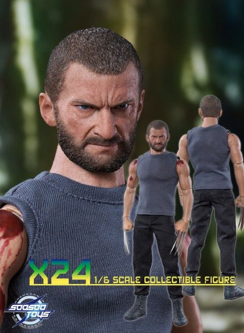 [SST-004] SooSooToys 1/6 Scale X24 Wolf Man Collectible Figure