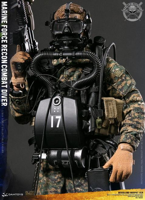 [DAM-78055] DAM Toys Marine Force Recon Combat Diver Woodland Marpat Version 1/6 Figure