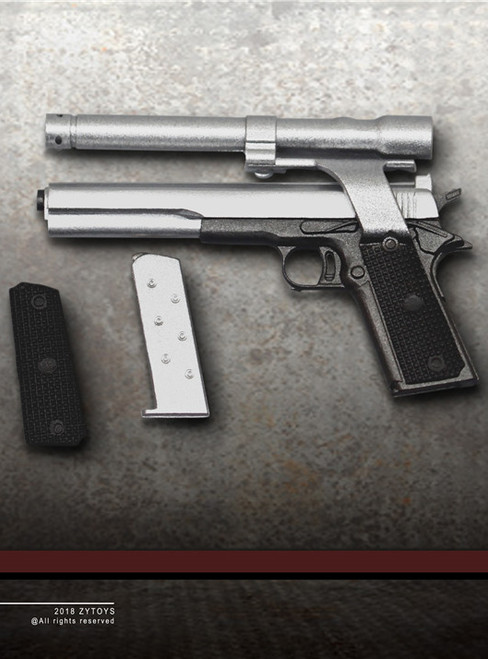 [ZY-2009AB] ZY Toys 1911 Pistol for 1:6 Action Figure in Black
