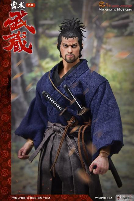 [WK-89015A] Wolf King Miyamoto Takehide V2 Japanese Samurai 1:6 Figure