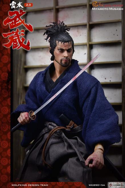 [WK-89015D] Wolf King Miyamoto Takehide V2 Deluxe Japanese Samurai 1:6 Figure