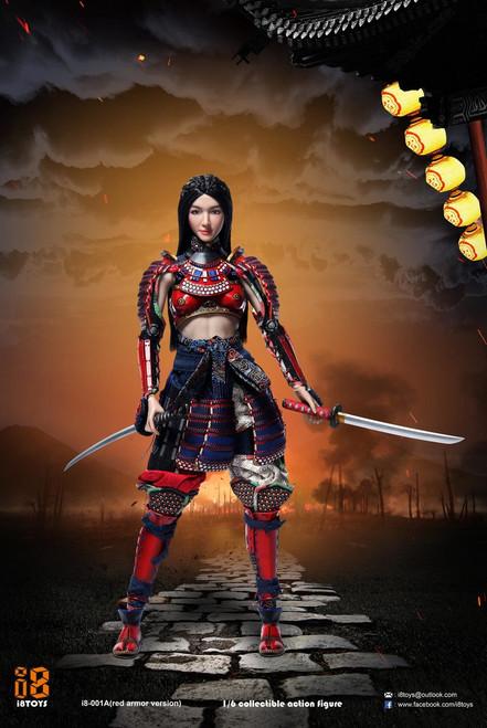 [i8-001A] i8TOYS 1/6 Female Samurai RIN Red Armor Version