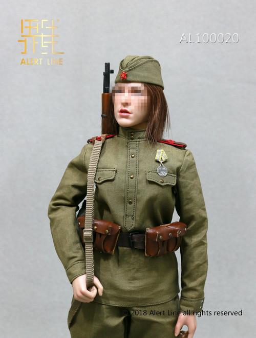 [AL-100020] Alert Line 1:6 WWII The Soviets Female Soldier Sniper Accessories