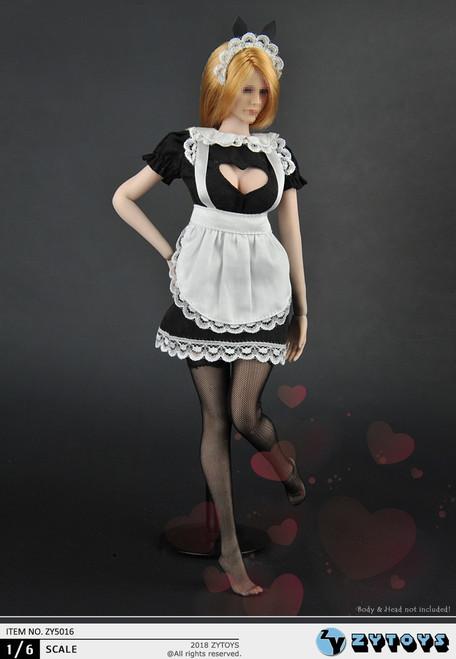 [ZY-5016] ZY TOYS 1/6 Maid Female Figure Uniform