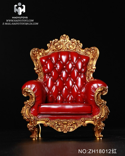 [HY-ZH18012B] HY Toys Red Single Sofa 3.0 for 1:6 Action Figures