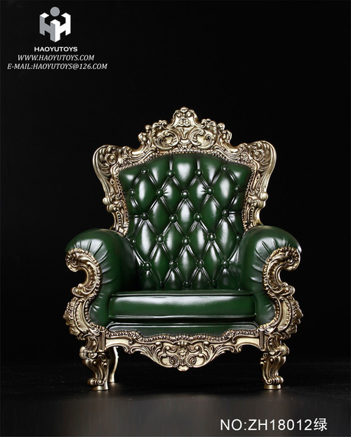 [HY-ZH18012A] HY Toys Green Single Sofa 3.0 for 1:6 Action Figures