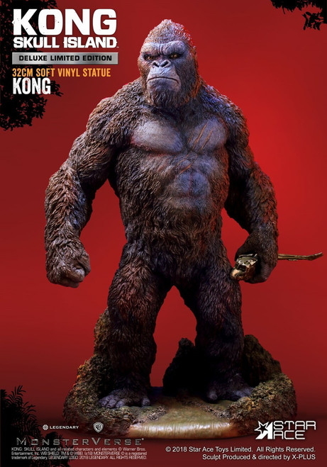 """[SA-9001DX] Skull Island Kong Deluxe Limited Edition 12.6"""" Tall Soft Vinyl Statue"""
