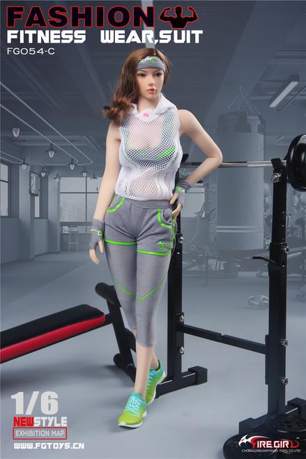 [FG-054C] Fire Girl Toys Fashion 1/6 Women Fitness Wear in Apple Green
