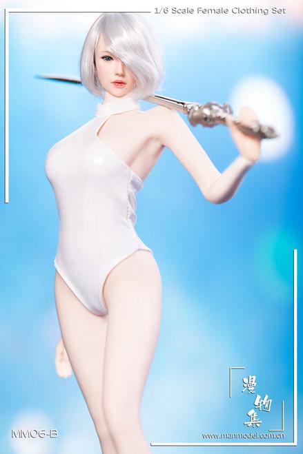 [MM-06B] Manmodel Miss 2B's White Swimsuit Set for Female Figure