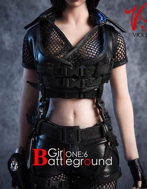 [VST-18XG13B] VS Toys 1/6 Battlefield Girl Clothing & Gear Black