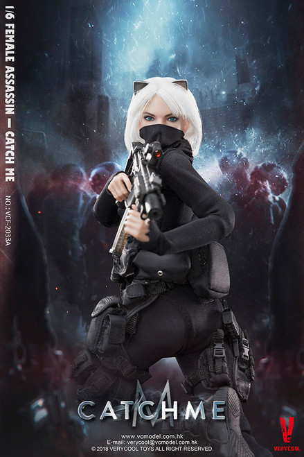 [VCF-2033A] Very Cool 1/6 Female Assassin Catch Me with Normal Expression Head