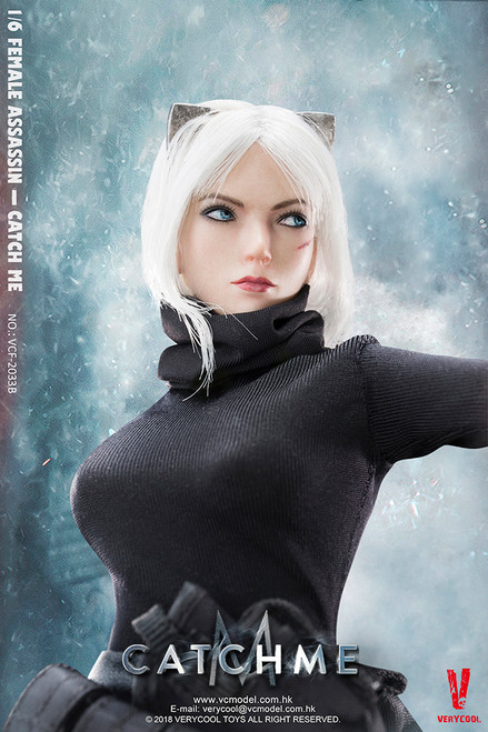 [VCF-2033B] Very Cool 1/6 Female Assassin Catch Me with Strabismus Scar Head