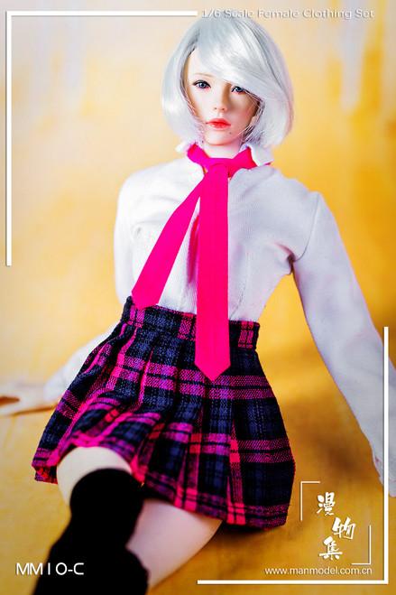 [MM-10C] Manmodel 1/6 Girl's School Dress Suit in Pink