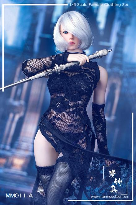 [MM-11A] Manmodel 1/6 MISS 2B's Lace Cheongsam in Black