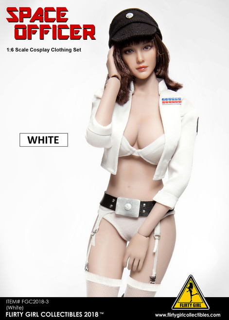 [FGC-2018-3] Flirty Girl's 1/6 Female Space Officers in White