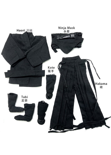[TD-203A] Toys Dao 1/6 Male Ninja Clothes in Black