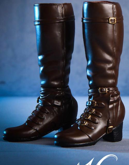 [VST-18X02B] VS Toys 1/6 Female High Heel Boots in Brown