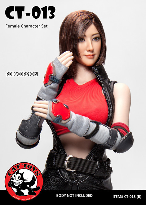 [CAT-013B] Cat Toys 1/6 Female Character Set in Red Color