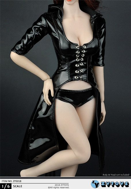 [ZY-5018] ZY TOYS 1/6 Women's Leather Trench Coat
