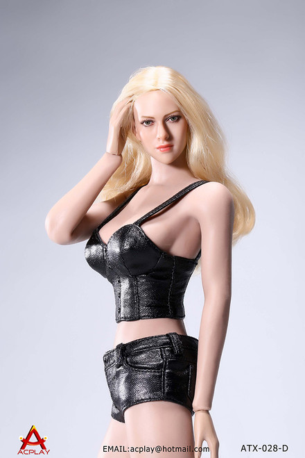 [AP-ATX028D] ACPLAY Black 1/6 Hot Sun-top and Denim Shorts Set