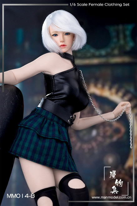 [MM-14B] Manmodel 1/6 Green Punk Girl Costume Set