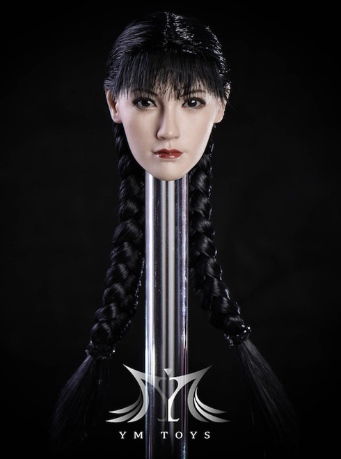 [MIS-H047A] Custom 1:6 Fang Hu Pale Headsculpt with Ponytail