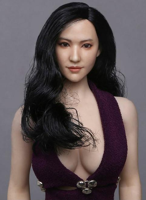 [GAC-015B] GACTOYS Asian Women's Head Sculpture with Black Hair