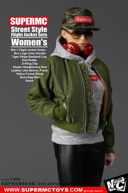 [MC-F076] Super MC Toys Women's Street Style Flight Jacket Set