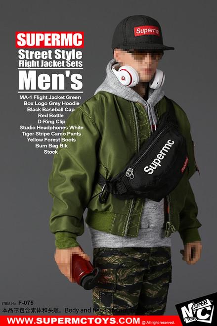 [MC-F075] Super MC Toys Men's Street Style Flight Jacket Set