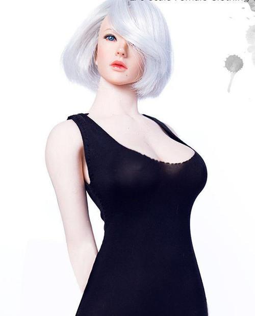 [MM-09B] Manmodel 1/6 Black U Collar Mini Dress