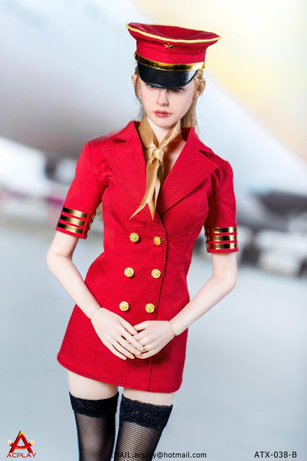 [AP-ATX038B] ACPLAY 1/6 Red Flight Attendant Dress