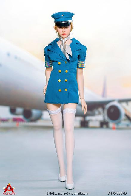 [AP-ATX038D] ACPLAY 1/6 Blue Flight Attendant Dress