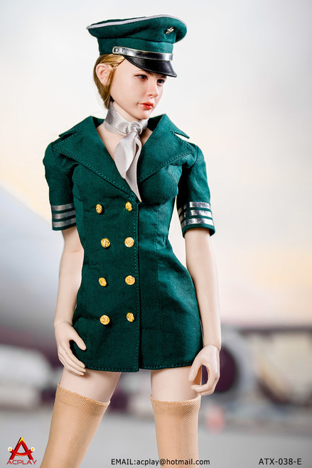 [AP-ATX038E] ACPLAY 1/6 Green Flight Attendant Dress