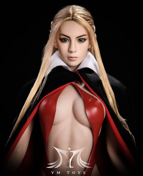 [YMT-09A] YM Toys Female Head with Interchangeable Ears with Blonde Hair