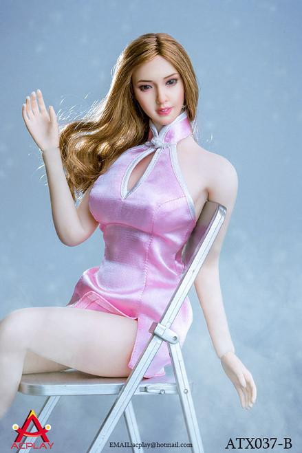 [AP-ATX037B] ACPLAY 1/6 Pink Mini Cheongsam & High Heel Set