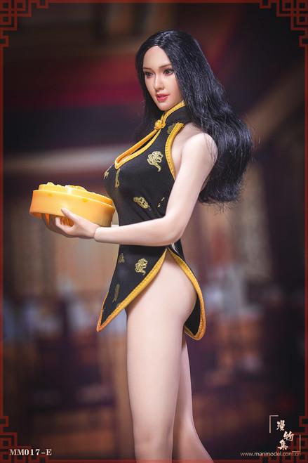 [MM-017E] Manmodel 1/6 Restaurant Waitress Black Mini Cheongsam