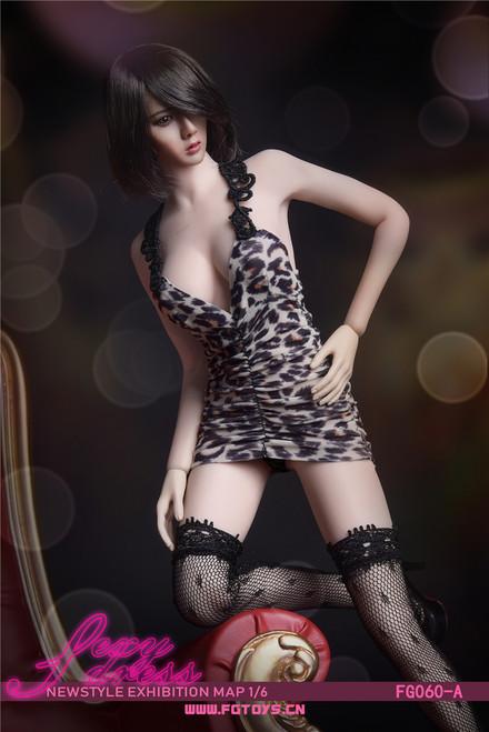 [FG-060A] Fire Girl Toys 1/6 Leopard Print Sexy Dress