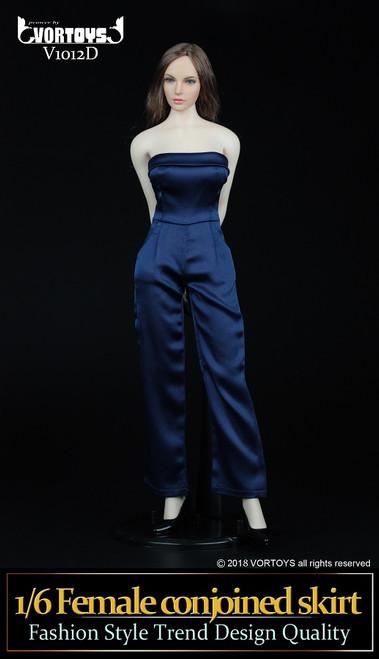 [VOR-1012D] VORTOYS 1/6 Women's One Piece Culottes in Blue