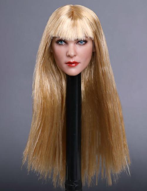 [GAC-019G] 1:6 Caucasian Women's Grim Head Sculpt with Medium Blonde Hair by GACTOYS