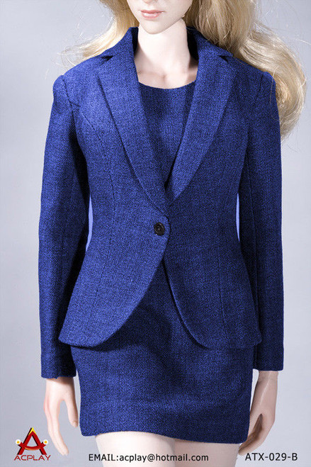 [AP-ATX029B] ACPLAY 1:6 Office Lady Female Dress Suit Set in Blue