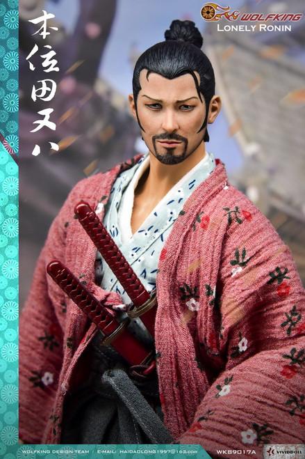 [WK-89017A] Wolf King Lonely Ronin 本位田又八 Japanese Samurai 1:6 Figure