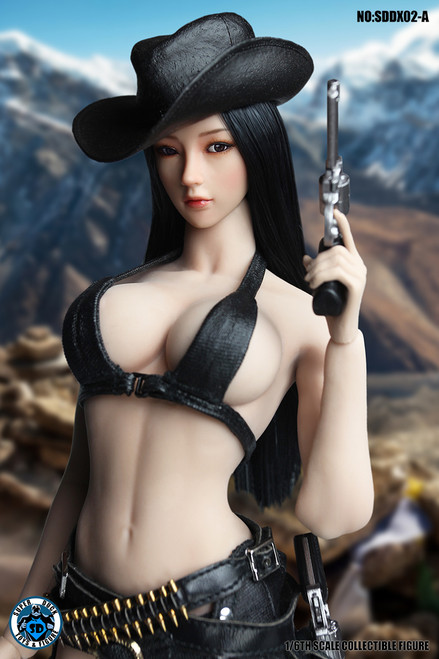 [SUD-DX02A] 1/6 Black Hair Headsculpt with Movable Eye Ball by Super Duck