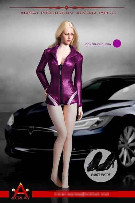 [AP-ATX032C] ACPLAY 1:6 Fuchsia Racing Girl Outfit for Female Figures