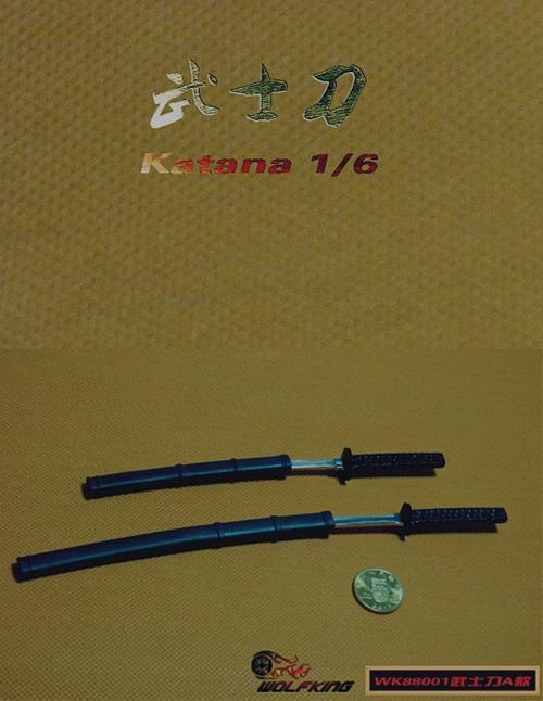[WK-88002] Wolf King 1:6 Japanese Swords Katana
