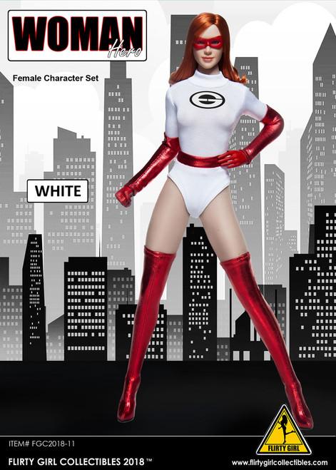 [FGC-2018-11] Flirty Girl's 1/6 Woman Hero Female Character Set in White