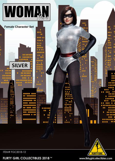 [FGC-2018-12] Flirty Girl's 1/6 Woman Hero Female Character Set in Sliver