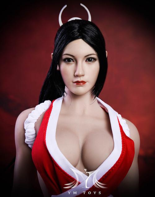 [MIS-H047D] Custom 1:6 Fang Hu Tan Headsculpt with Straight Hair